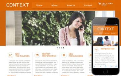 Context mobile web template