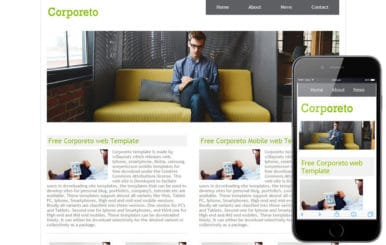 Corporeto Free Corporate Website and Mobile Template