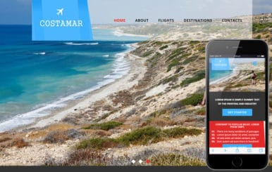 Costamar a Travel Category Flat Bootstrap Responsive Web Template