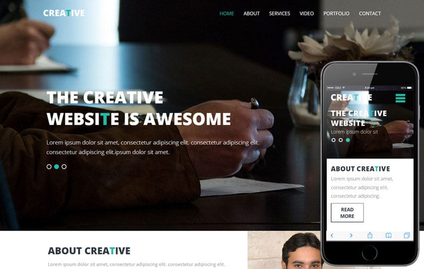 Creative a Corporate Multipurpose Flat Bootstrap Responsive web template