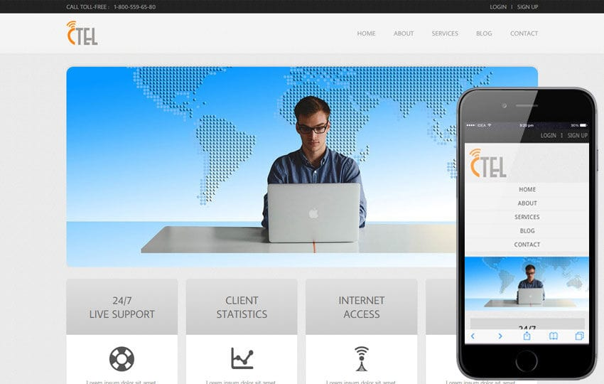 CTEL Corporate mobile web Templates