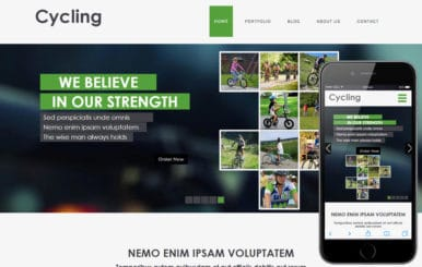 Cycling a Sports Category Flat Bootstrap Responsive Web Template