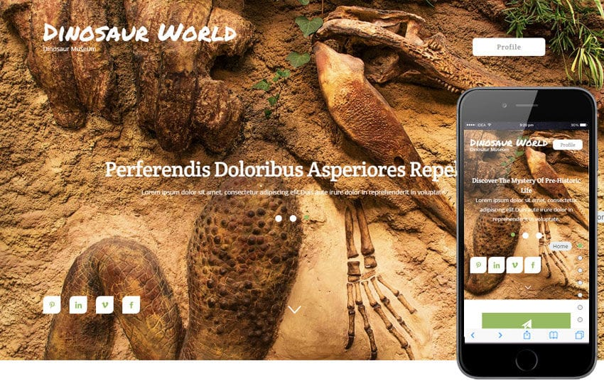 Dinosaur World a Animal Category Flat Bootstrap Responsive Web Template