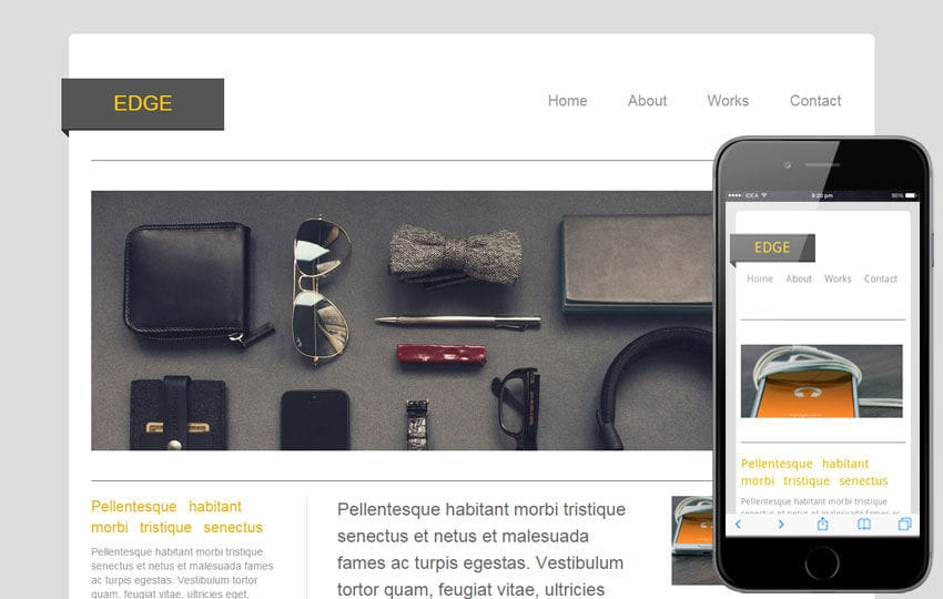 Edge – blogging website and mobile Template for free