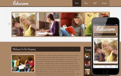 Educare Education Mobile Website Template