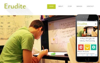 Erudite Education Mobile Website Template