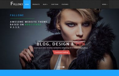 Fallone Awesome HTML5 Bootstrap Website Theme