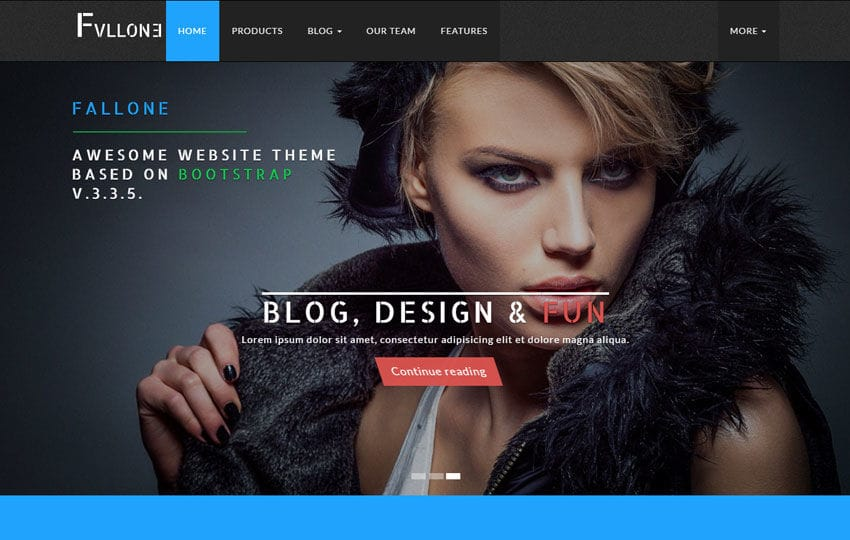 Fallone Awesome HTML5 Bootstrap Website Theme Mobile website template Free