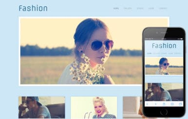 Fashion Photographers gallery webtemplate