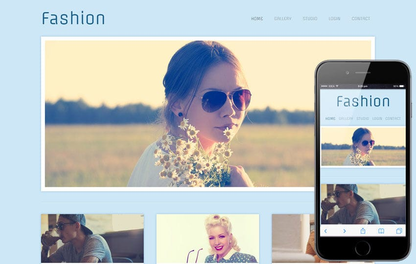 Fashion Photographers gallery webtemplate Mobile website template Free