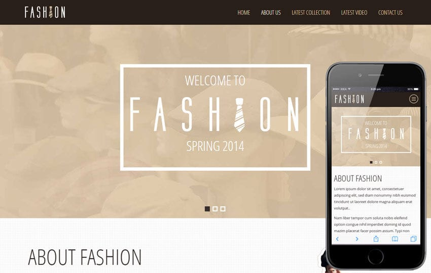 Fashion Spring a Personal Portfolios Flat Bootstrap Responsive Web Template Mobile website template Free