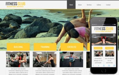 Fitness Club Mobile Website Template