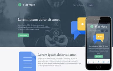 Flatmate a Singlepage Flat Bootstrap Responsive web template