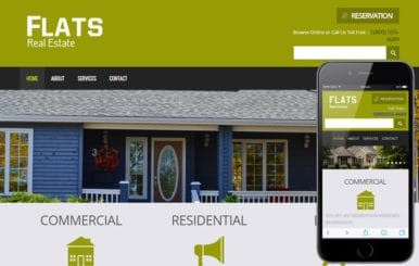 Flats a Real Estate Mobile Website Template