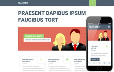 Flatster a Multipurpose Flat Bootstrap Responsive Web Template