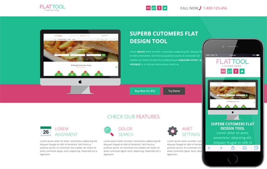 Flat Tool Corporate Flat Responsive web template
