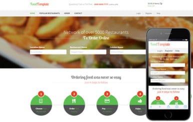 Food Template – Restaurant Flat Bootstrap Responsive website template