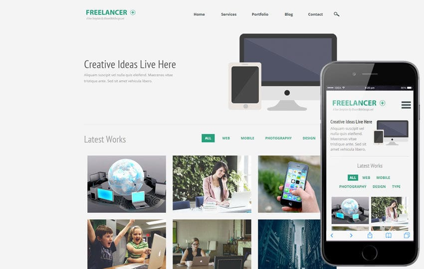 Freelancer Plus a Corporate Multipurpose Flat Bootstrap Responsive Web Template