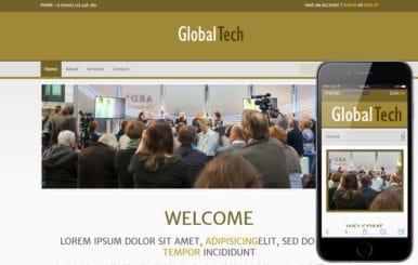 Global Tech Corporate Business Mobile Website Template