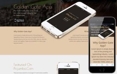 Golden Gate A Sleek Responsive Mobile website template