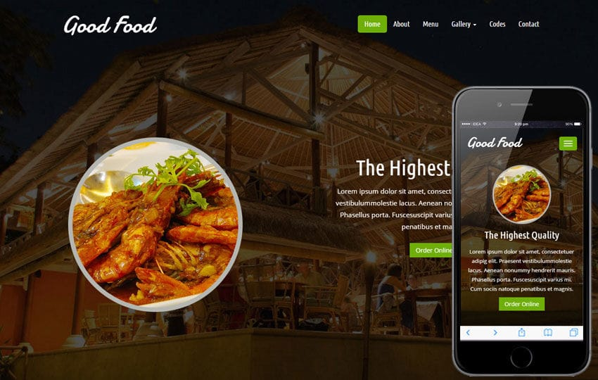 Good Food a Hotel Category Flat Bootstrap Responsive Web Template