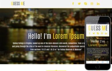 Guess Me personal portfolio Mobile Website Template