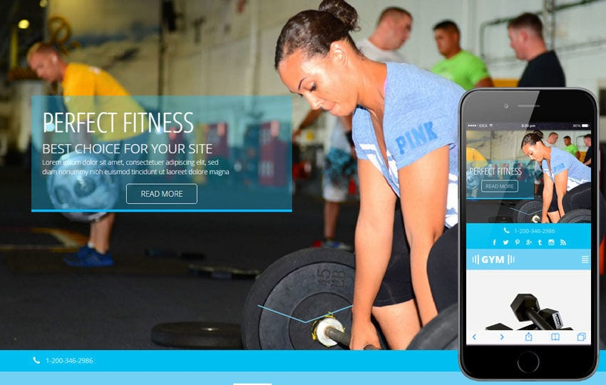Gym a Flat Sports Bootstrap Responsive Web Template Mobile website template Free
