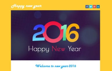 Happy New Year a Newsletter Responsive Web Template