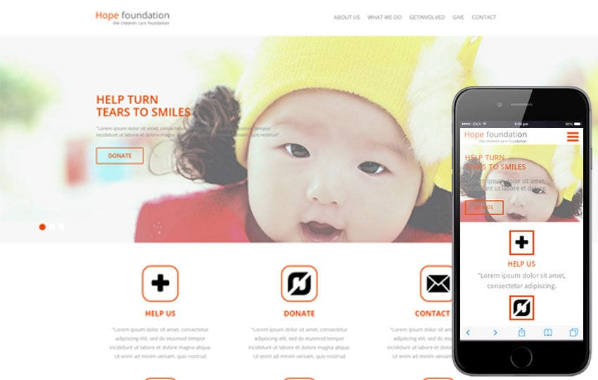 Hope Foundation a Charity Category Flat Bootstrap Responsive web template Mobile website template Free