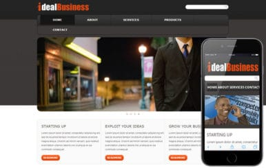 Free Ideal Business web template and mobile website template for corporate companies