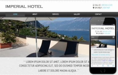 Imperial a Hotel Mobile Website Template