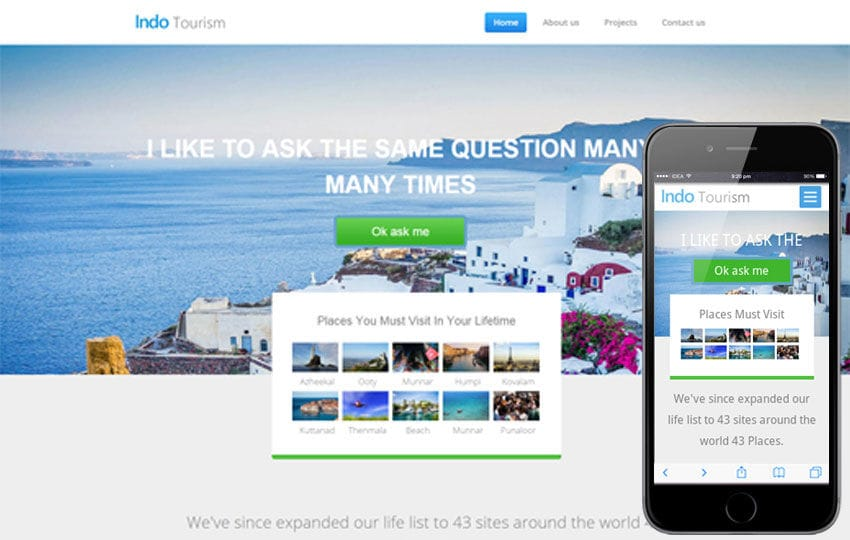 Indo Tourism a Travel Category Flat Bootstrap Responsive web template Mobile website template Free