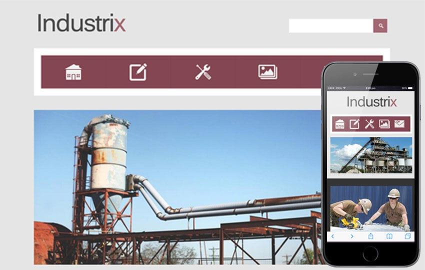 Industrix a Industrial Mobile Website Template
