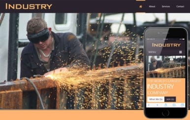 Industry a Industrial Mobile Website Template