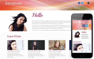 Introducto personal portfolio Mobile Website Template