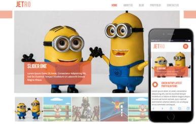 Jetro Flat Corporate Responsive website template