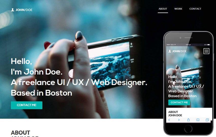 John Doe a Singlepage Portfolio Flat Bootstrap Responsive Web Template