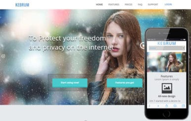 Kebrum a Product based Flat Bootstrap Responsive web template