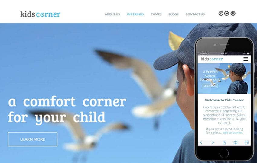 Kids Corner a Educational Multipurpose Flat Bootstrap Responsive web template Mobile website template Free