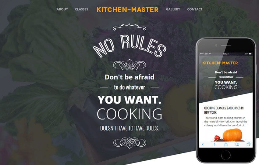 Kitchen Master a Food Category Flat Bootstrap Responsive Web Template
