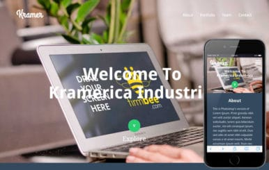 Kramer a Industrial Portfolio Flat Bootstrap Responsive web template