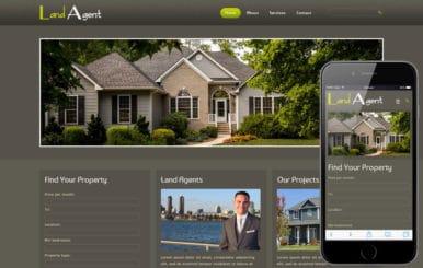 Land Agent Real Estate Mobile Website Template