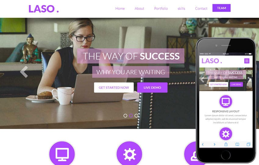 Laso a Singlepage Personal Portfolio Flat Bootstrap Responsive web template