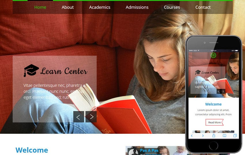 Learn Center a Educational Multipurpose Flat Bootstrap Responsive web template Mobile website template Free