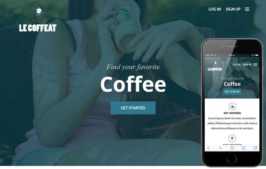 Le Coffeat a Hotel Category Flat Bootstrap Responsive web template Mobile website template Free