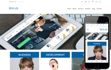 Lexus web and mobile website template for free