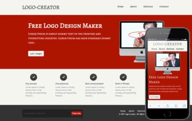 Free Logo Creator company web template and Mobile template