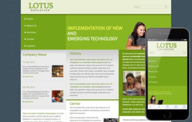 Free Lotus Education web template mobile website template for education centers