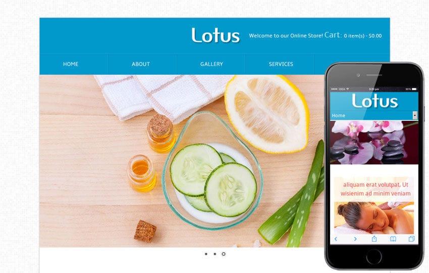 Lotus Beauty Parlour Mobile Website Template Mobile website template Free