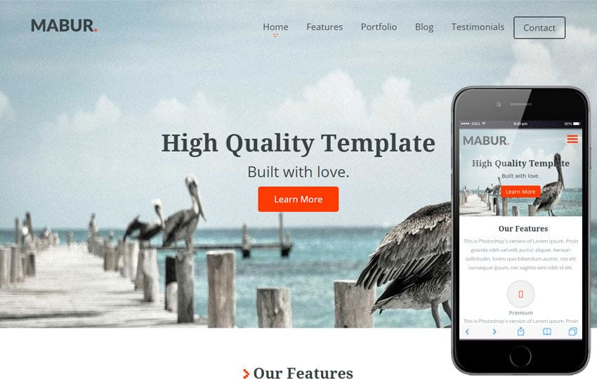 Mabur a Corporate Portfolio Flat Bootstrap Responsive web template Mobile website template Free
